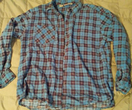 blue plaid men's flannel