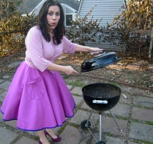 Pink Pavlova grill no meat
