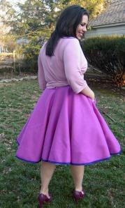 Pink Pavlova side and back
