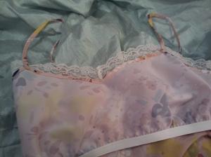 chiffon nightgown inside closeup front