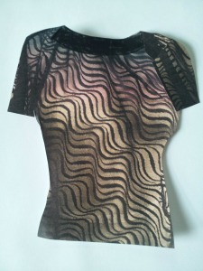 black swirls mesh knit cabarita idea