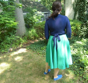 double gauze Pavlova skirt back