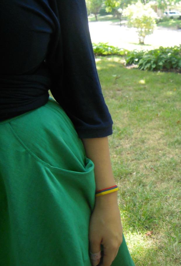 double gauze Pavlova skirt pocket close up
