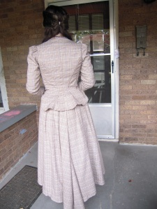 Plaid Victorian back