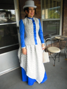 Victorian costume to meet the Queen full view
