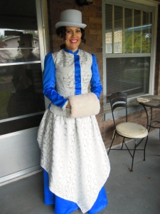 Victorian outfit to meet the Queen front