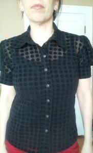 first lekala blouse black