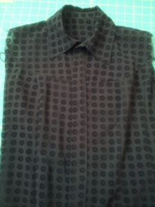 first lekala blouse during construction