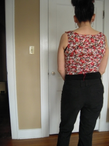 Ralph Pink bodice fit test bac