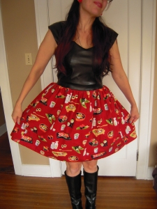 Yummy Sushi Cambie skirt sweep