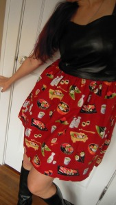 Yummy Sushi Cambie tilt skirt
