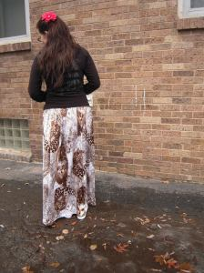 jungle skirt back