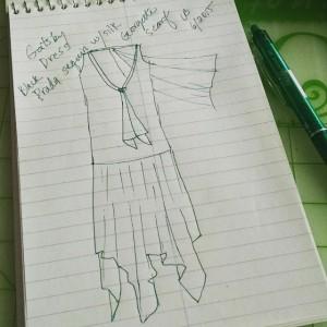 Gatsby dress sketch